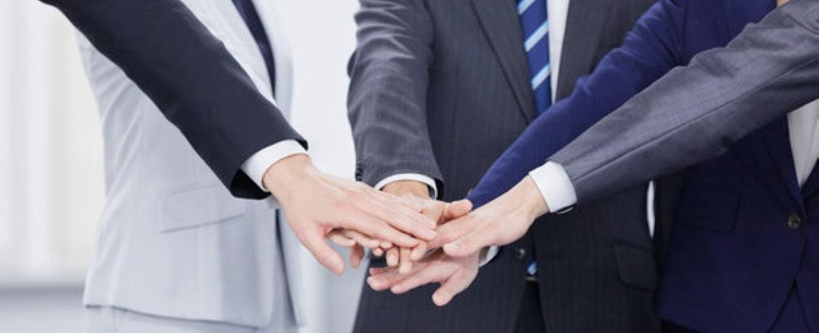 ビジネスマンの団結